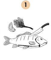 Рецепты шефов: Запечённый с травами карп с соусом из оливок и томатов. Изображение № 4.