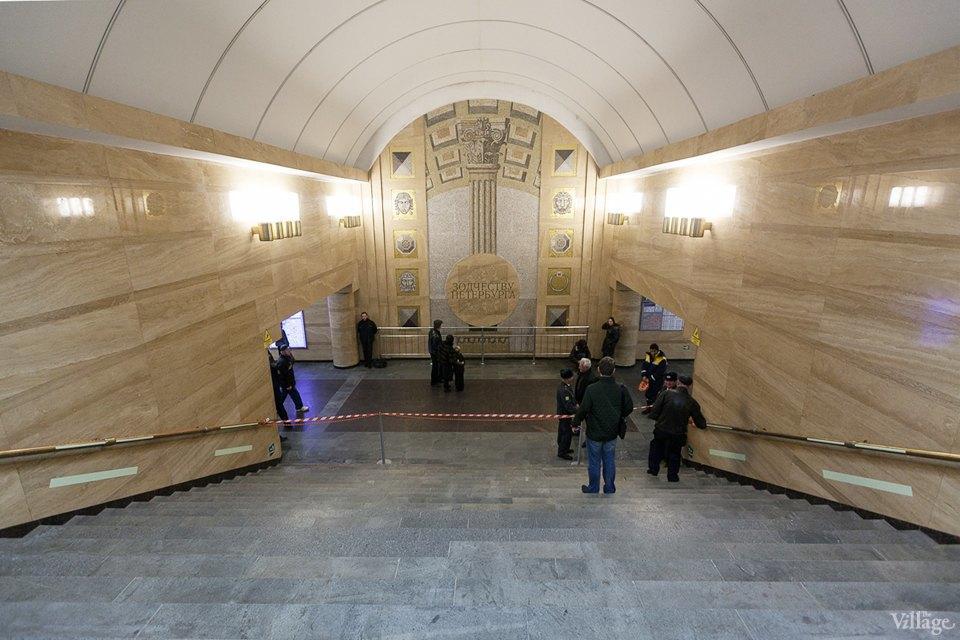 Фоторепортаж: Новый вестибюль «Спасской» изнутри. Изображение № 17.