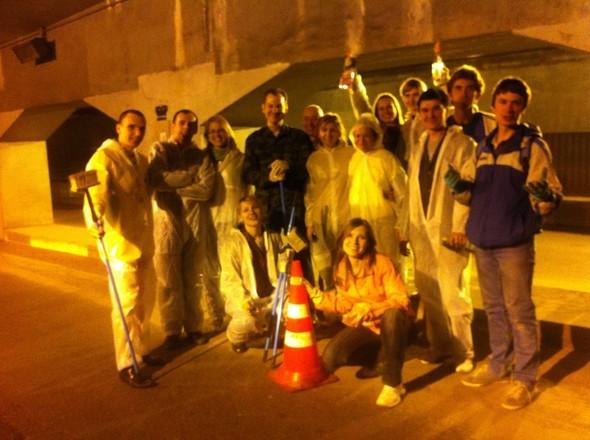 Добровольцы разукрасили туннель около «Винзавода». Изображение № 11.