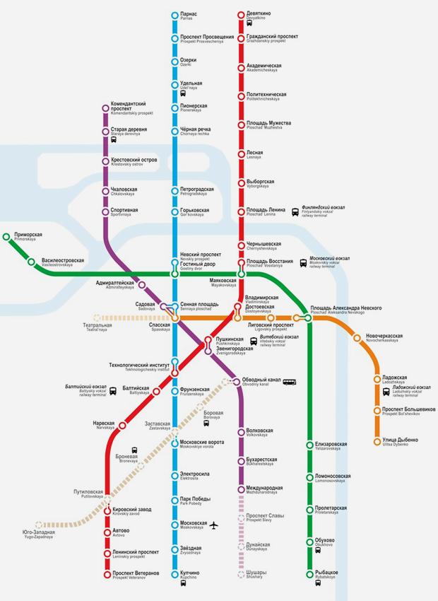 Карты на стол: 11 альтернативных схем петербургского метро. Изображение №18.