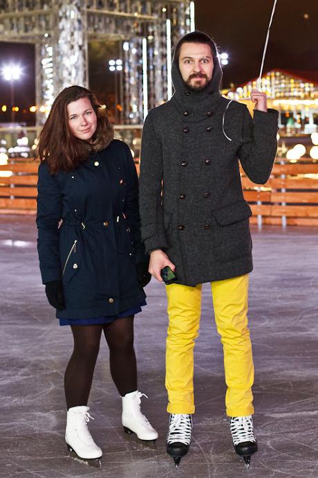 Люди в городе: Первые посетители катка в парке Горького. Изображение №38.