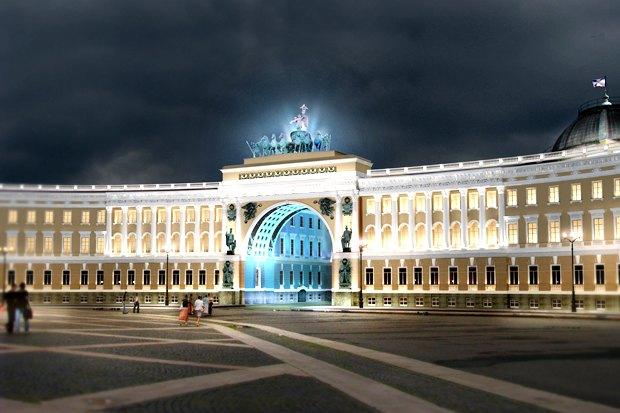 На ночь глядя: 12 проектов подсветки Главного штаба. Изображение № 81.