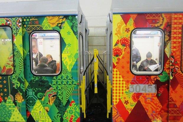 Фоторепортаж: Олимпийский поезд в московском метро. Изображение № 3.
