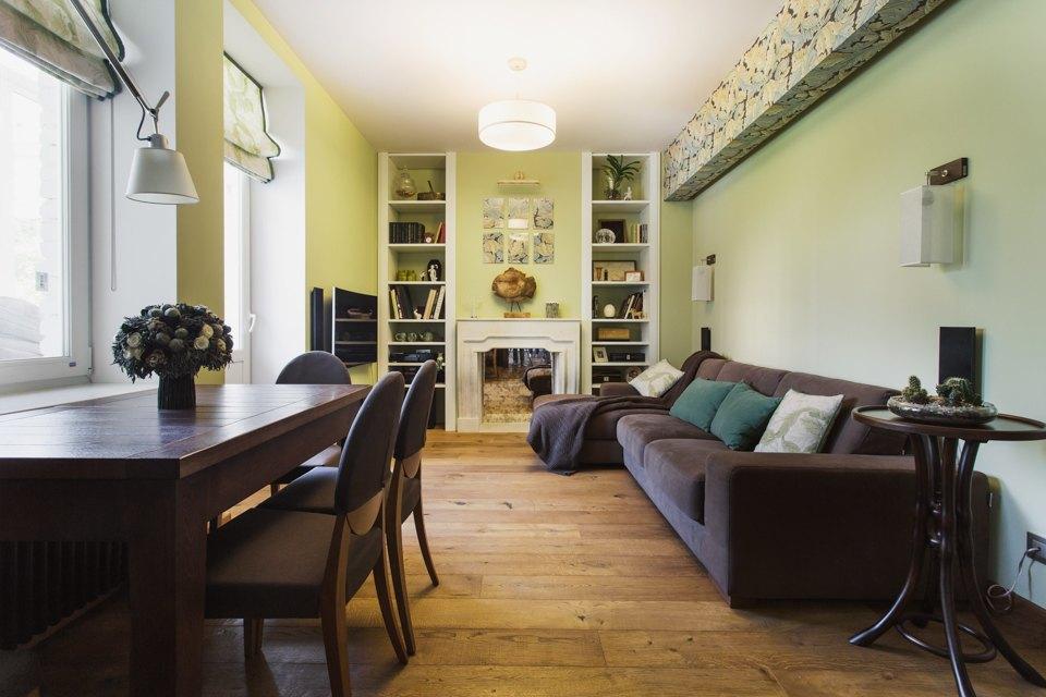 Квартира с декоративным камином для семьи сноворождённым . Изображение № 2.