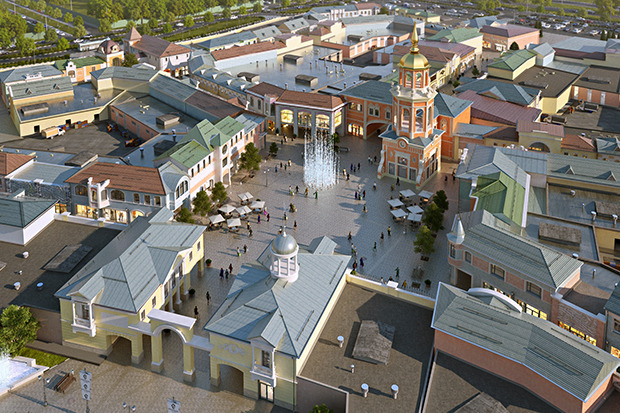 Outlet Village Белая Дача в макете. Изображение № 19.