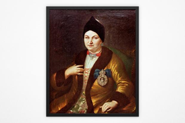 Генрих Хойзер, портрет Натальи Разумовской, ХVІІІ век. Изображение № 3.