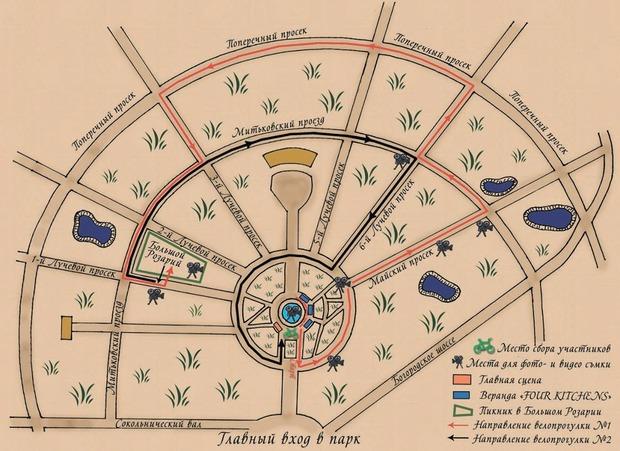 Карта заезда. Изображение № 1.