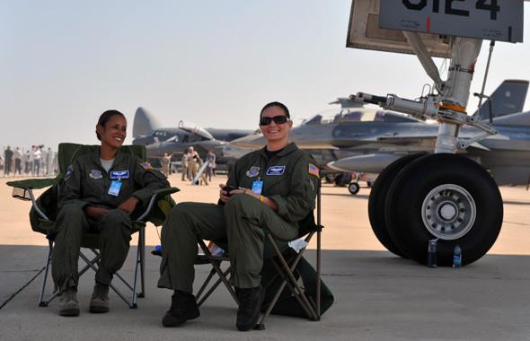 Впервые за последние четыре года на МАКС прилетели ВВС США, показавшие десять своих самолётов. Изображение № 2.