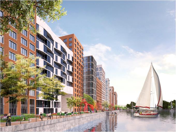 В «Москва-Сити» планируют построить жилой комплекс с причалом имини-пляжем. Изображение № 2.