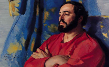 Лучано Паваротти Нельсона Шэнкса. Холст, масло. Изображение № 9.