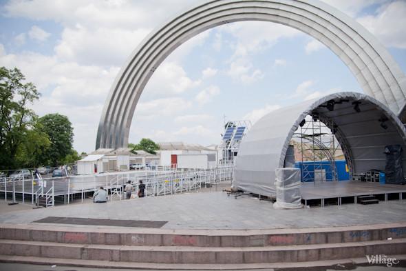 Под аркой Дружбы Народов открывают «Европейский городок». Зображення № 2.