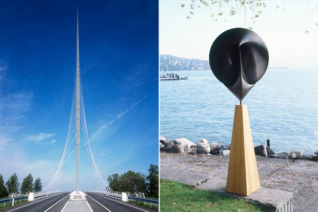 Мост через канал Хофдварт Харлеммермер, Нидерланды, 1999–2004, и скульптура «Вокруг», Киклады, 2006. Изображение № 8.