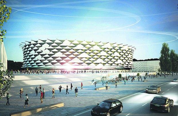 Возле Московской площади начали строить новый стадион. Зображення № 1.