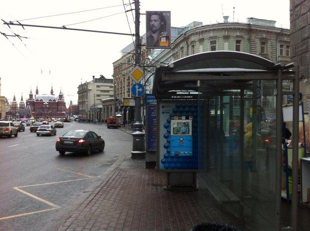 На Тверской появились умные остановки. Изображение №1.