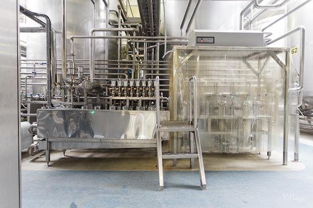 Молоко течёт в ламинарные боксы — специальные ёмкости, где в него добавляют йогуртовую закваску. Изображение № 25.