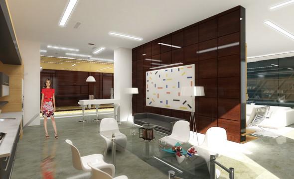 Интерьер квартиры в ЖК «Дом у моря» на Крестовском. Проект находится в стадии реализации.. Изображение № 13.