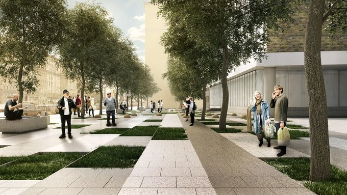 Визуализация проекта реконструкции Новинского бульвара. Изображение № 4.