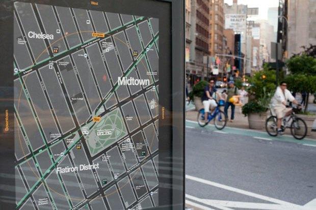 Система пешеходной навигации в Нью-Йорке Авторы: City ID, Pentagram, T-Kartor, 2013 год. Изображение № 16.
