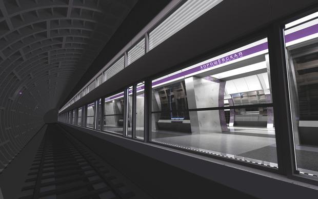 Проект станции «Хорошевская». Изображение с сайта «Метрогипротранса». Изображение №1.