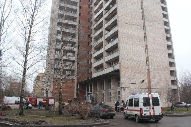 Пожар в общежитии академии Мечникова потушен. Изображение № 1.