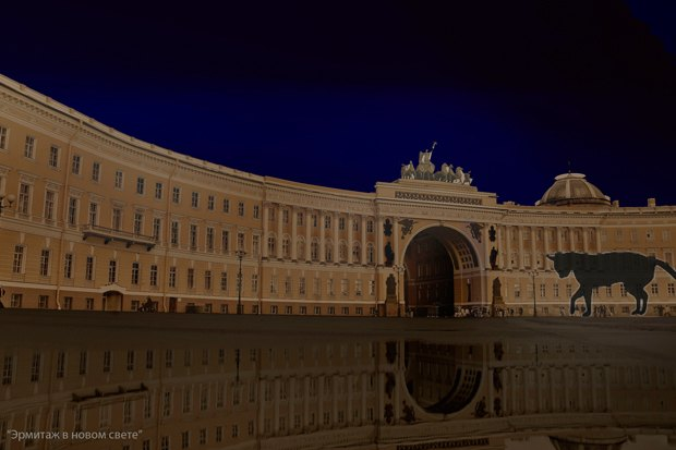 На ночь глядя: 12 проектов подсветки Главного штаба. Изображение № 17.