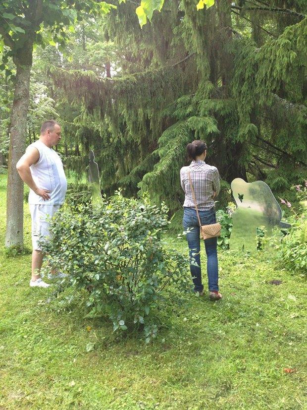 Зеркальные скульптуры «Ночлежки» в нижнем парке Петергофа Jio55p5lj8k8yvoxzHE_6w-article