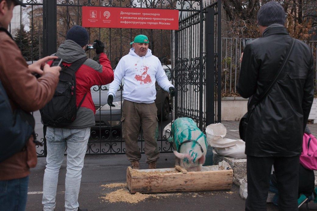 Как паркмен и боров пикетировали московский департамент транспорта. Изображение № 9.