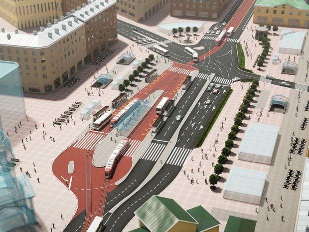 «КрасивыйПетербург» представил альтернативный проект реконструкции Сенной площади. Изображение № 2.