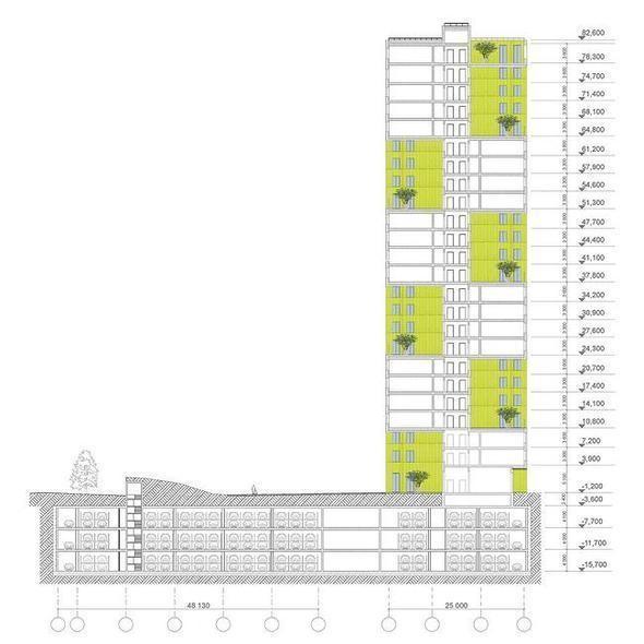 Изображение 8. В Москве построят многоэтажку с зелёными дворами на разных этажах.. Изображение №8.