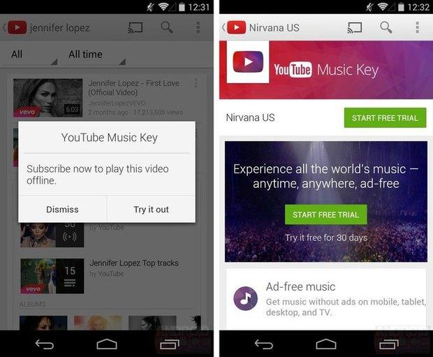 Доступ кмузыкальному сервису отYouTube обойдётся в9,99 доллара вмесяц. Изображение № 1.
