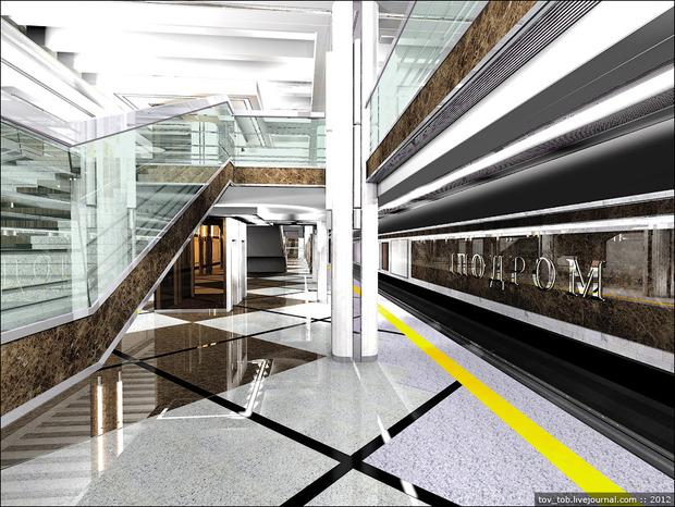 Рендер станции метро «Ипподром». Изображение № 2.