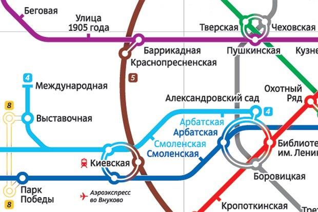 Схему метро в первый раз