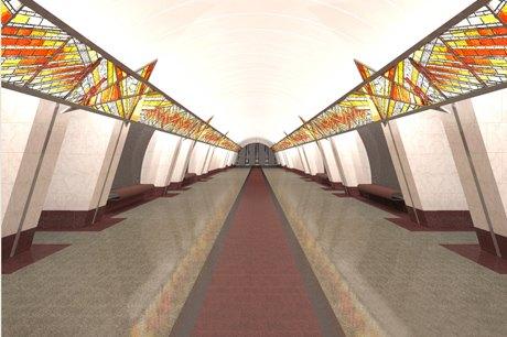 Опубликованы эскизы новых станций фиолетовой ветки метро. Изображение № 1.