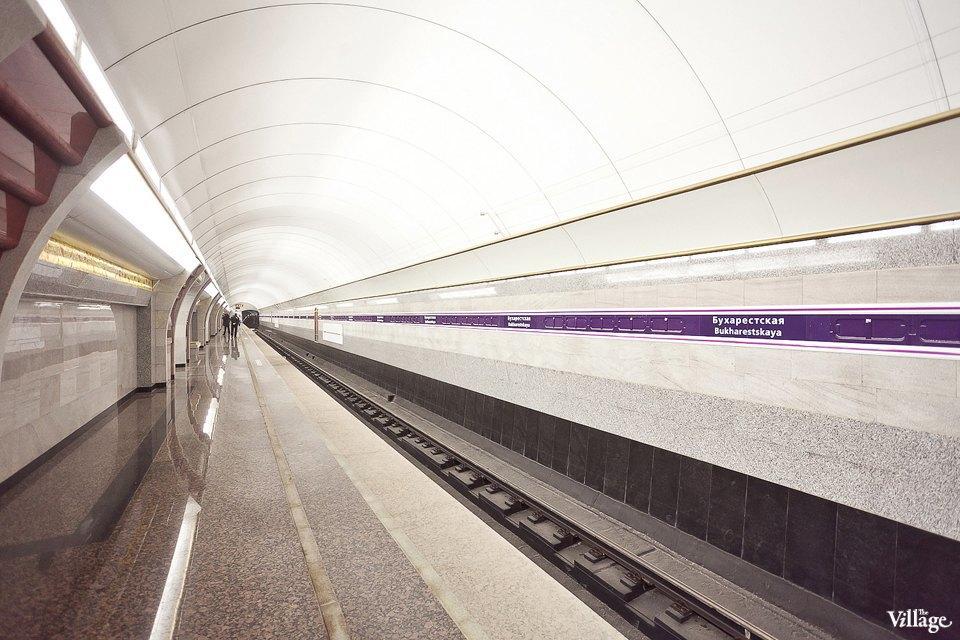 Фоторепортаж: Станции метро «Международная» и«Бухарестская» изнутри. Изображение № 7.