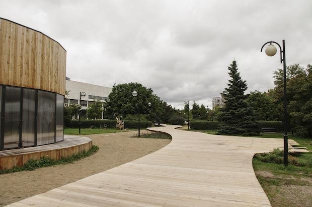В парке «Музеон» построят деревянную лестницу для отдыха. Изображение № 5.