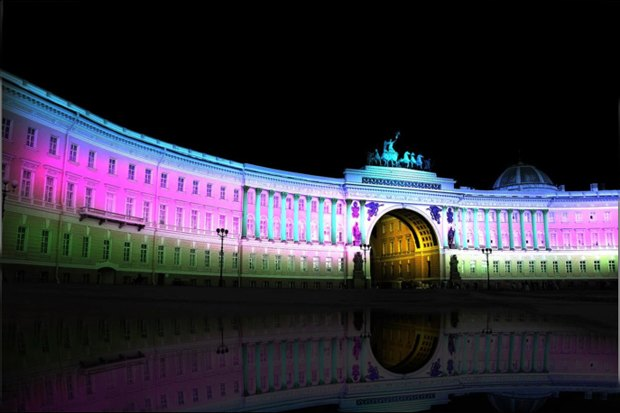 На ночь глядя: 12 проектов подсветки Главного штаба. Изображение № 27.