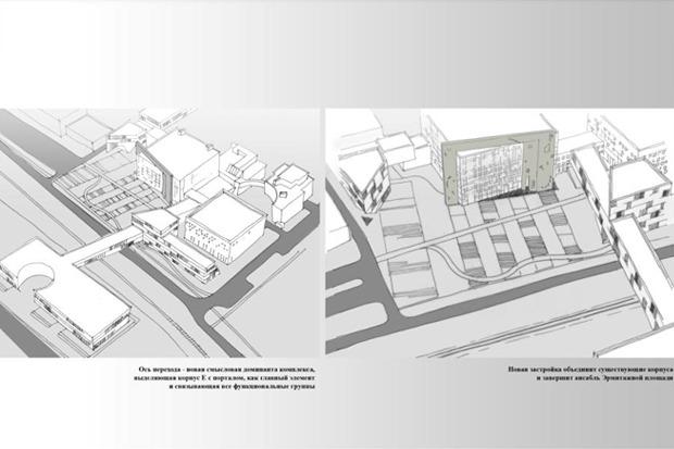 Архитектурное решение комплекса фондохранилища. Вариант 1. Изображение № 4.