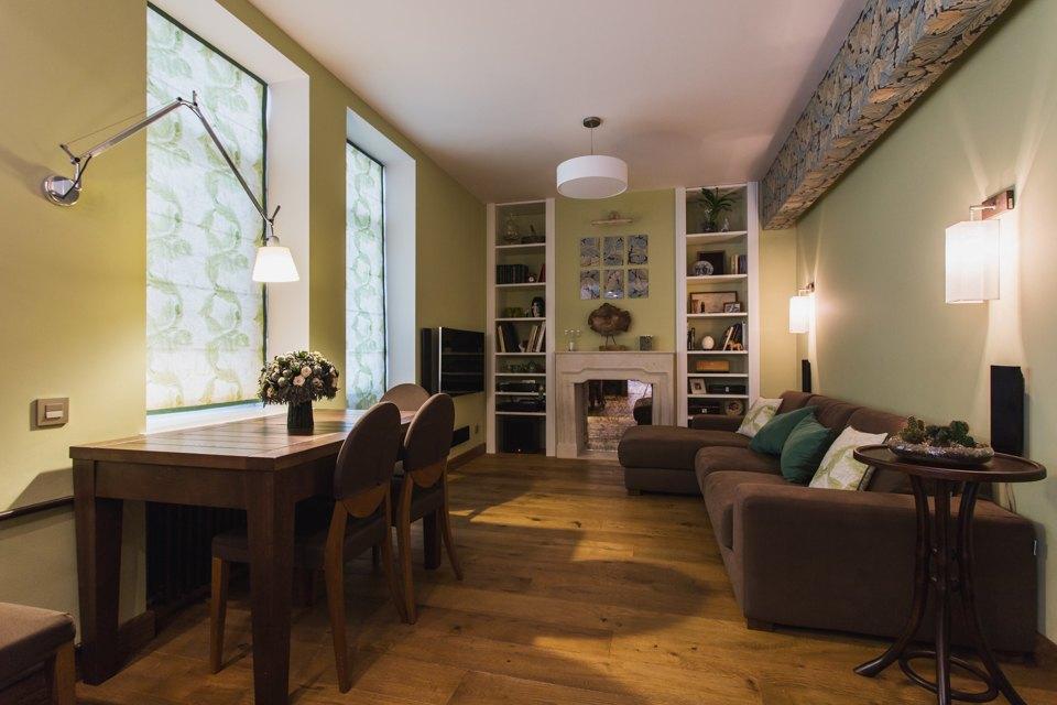 Квартира с декоративным камином для семьи сноворождённым . Изображение № 5.
