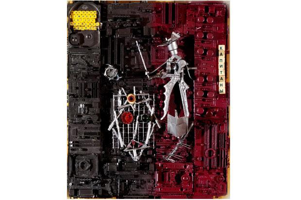 «Николай Гумилев. Капитаны», 2011. Материал: деревянная подложка, электронные детали. Изображение № 3.
