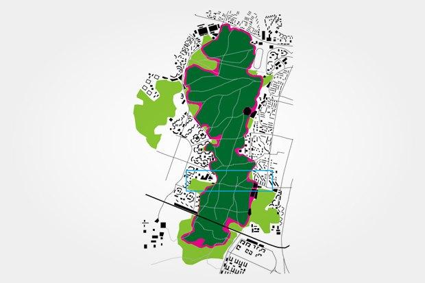 Общая схема Битцевского парка