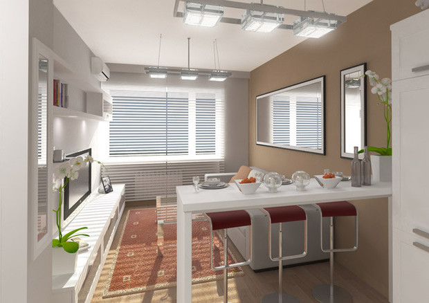 Пример отделки квартиры вмикрогороде «Влесу». Изображение № 18.