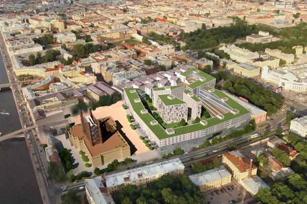 10 проектов квартала около Витебского вокзала . Изображение №1.