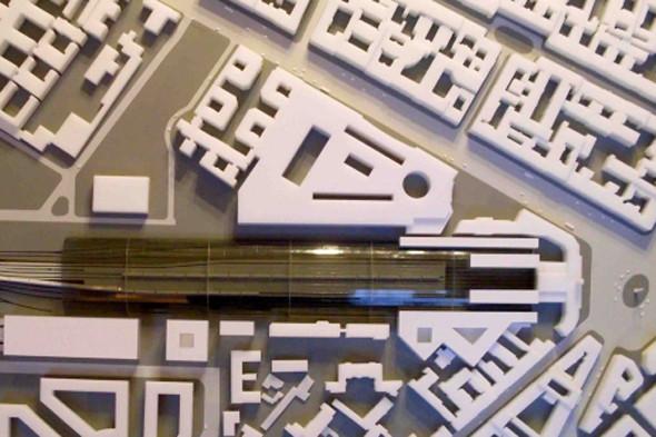 Платформа для скоростных поездов. Макет «Студии 44». Изображение № 7.