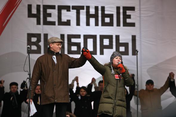 Митинг «За честные выборы» на проспекте Сахарова: Фоторепортаж, пожелания москвичей и соцопрос. Изображение № 29.
