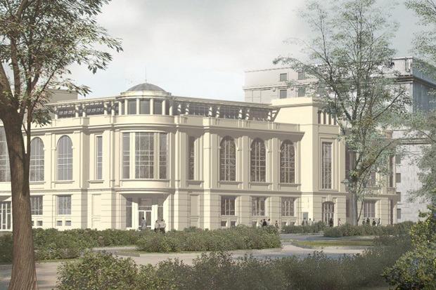 Проект северо-восточного фасада киноцентра «Великан» . Изображение № 1.