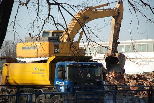"""Снос стадиона """"Динамо"""", 10 февраля 2012 года, фотографии: """"Архнадзор. Изображение № 1."""