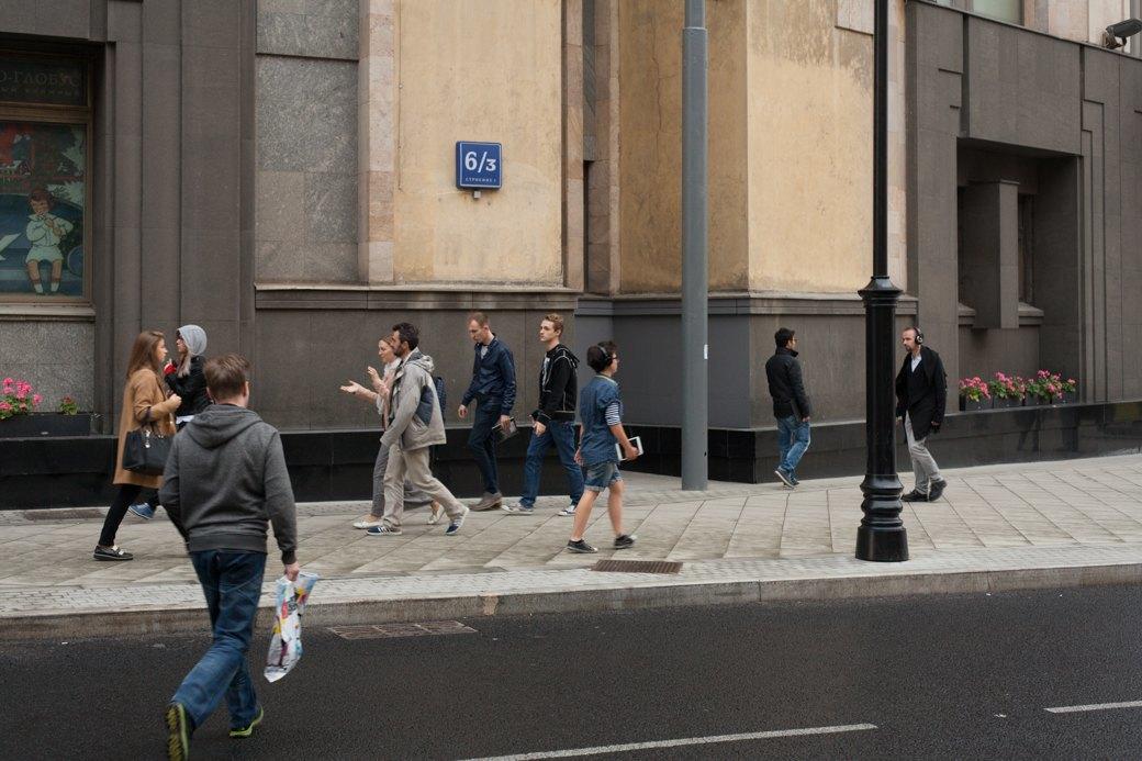 Берегись пешехода:  Большая Ордынка, Мясницкая иПатриаршие пруды после реконструкции. Изображение № 11.