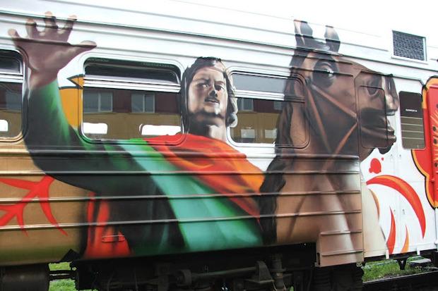 Электричка с граффити будет курсировать между Петербургом и Новгородом. Изображение № 1.