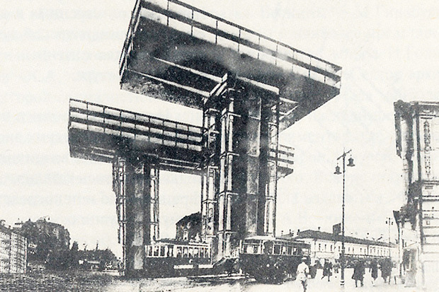 Эль Лисицкий, проект горизонтальных небоскрёбов. Изображение № 1.