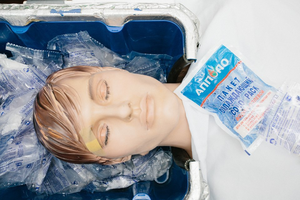 Тело охлаждают до нуля градусов с помощью льда. Изображение № 4.